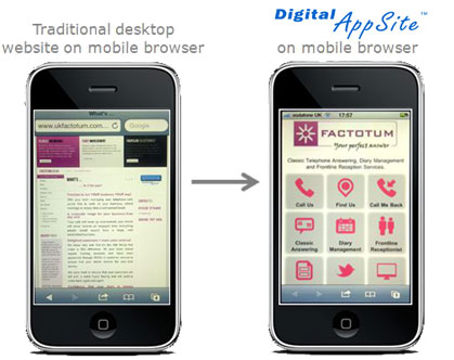 Website Transformation to Digital AppSite™